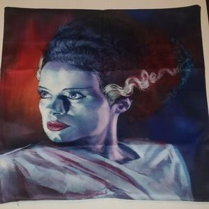 Bride of Frankenstein throw pillow cover 17×17 new